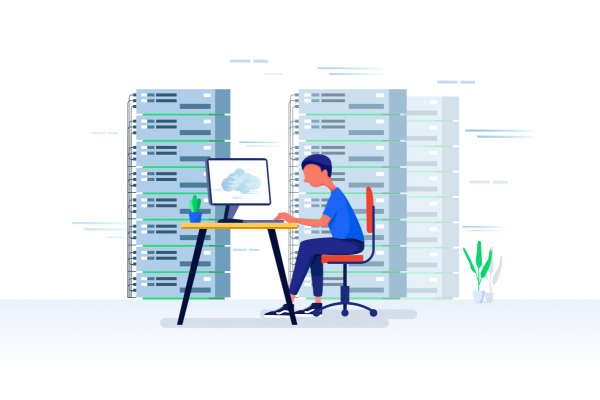 web worker vector illustration