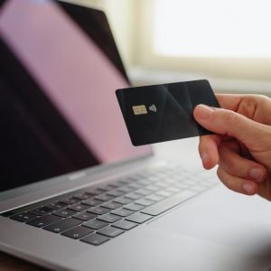 Credit card using for online shopping