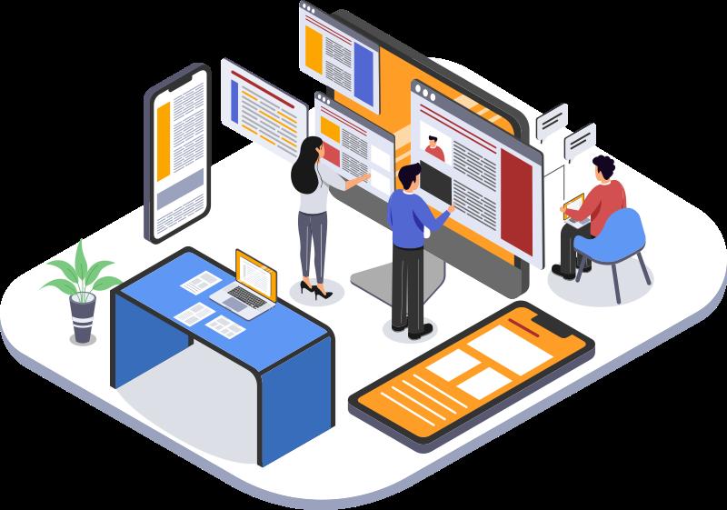 Website Care Plans, Isometric illustration